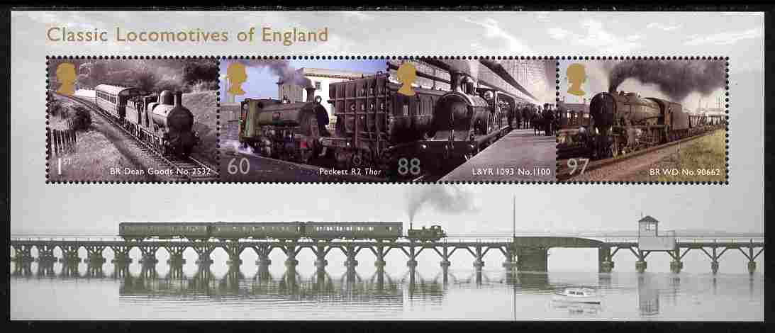 Great Britain 2011 Classic Locomotives 1st series perf m/sheet unmounted mint SG MS 3144