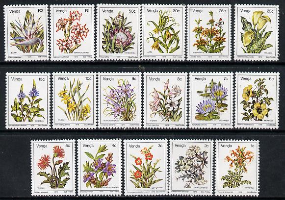 Venda 1979 Flower definitive set original set of 17 values unmounted mint, SG 5-21