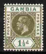 Gambia 1912-22 KG5 MCA 1.5d olive & blue-green mounted mint SG 88, stamps on , stamps on  kg5 , stamps on