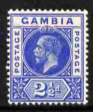 Gambia 1912-22 KG5 MCA 2.5d blue mounted mint SG 90