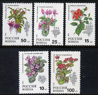 Russia 1993 Pot Plants set of 5 unmounted mint, SG 6398-402, Mi 296-300