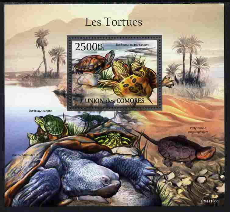 Comoro Islands 2011 Turtles perf m/sheet unmounted mint