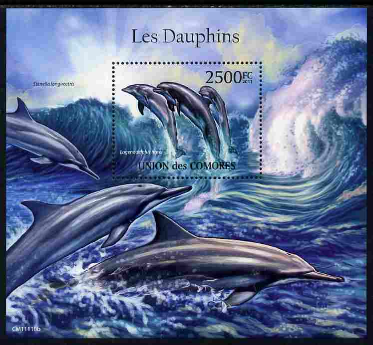 Comoro Islands 2011 Dolphins perf m/sheet unmounted mint