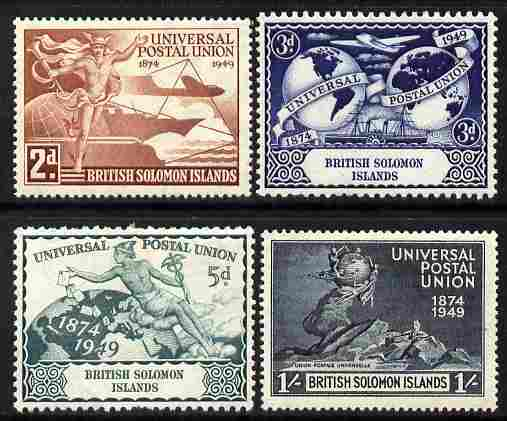 Solomon Islands 1949 KG6 75th Anniversary of Universal Postal Union set of 4 mounted mint, SG 77-80