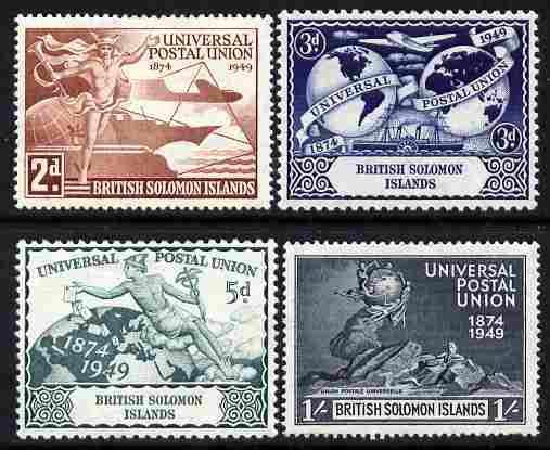 Solomon Islands 1949 KG6 75th Anniversary of Universal Postal Union set of 4 unmounted mint, SG 77-80