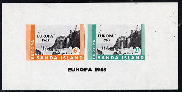 Sanda Island 1963 Europa imperf m/sheet showing Lighthouses unmounted mint