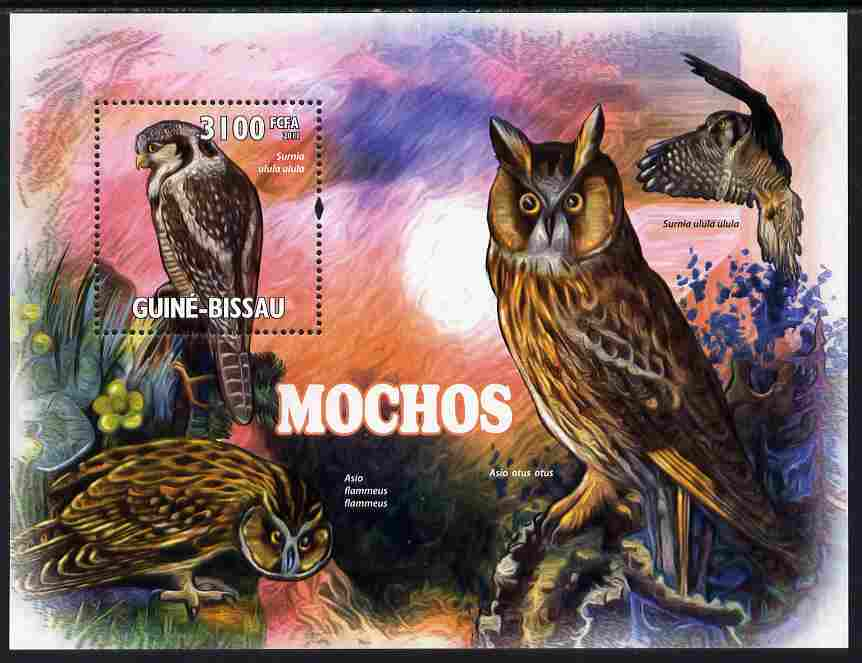 Guinea - Bissau 2011 Owls perf s/sheet unmounted mint Michel BL 907