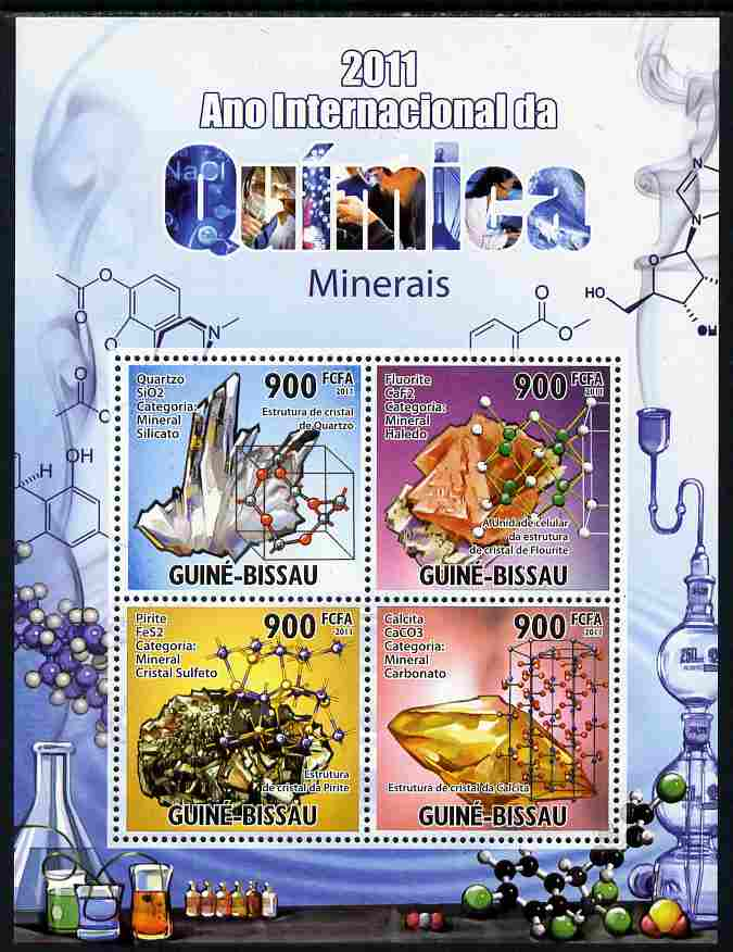 Guinea - Bissau 2011 International Chemical Year perf sheetlet containing 4 values unmounted mint Michel 5303-06
