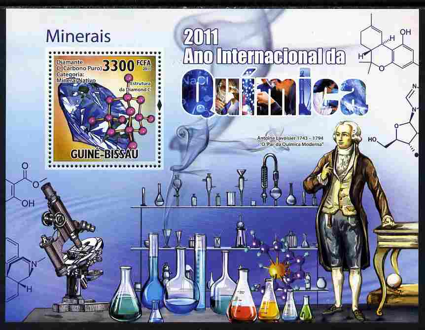Guinea - Bissau 2011 International Chemical Year perf s/sheet unmounted mint Michel BL 909