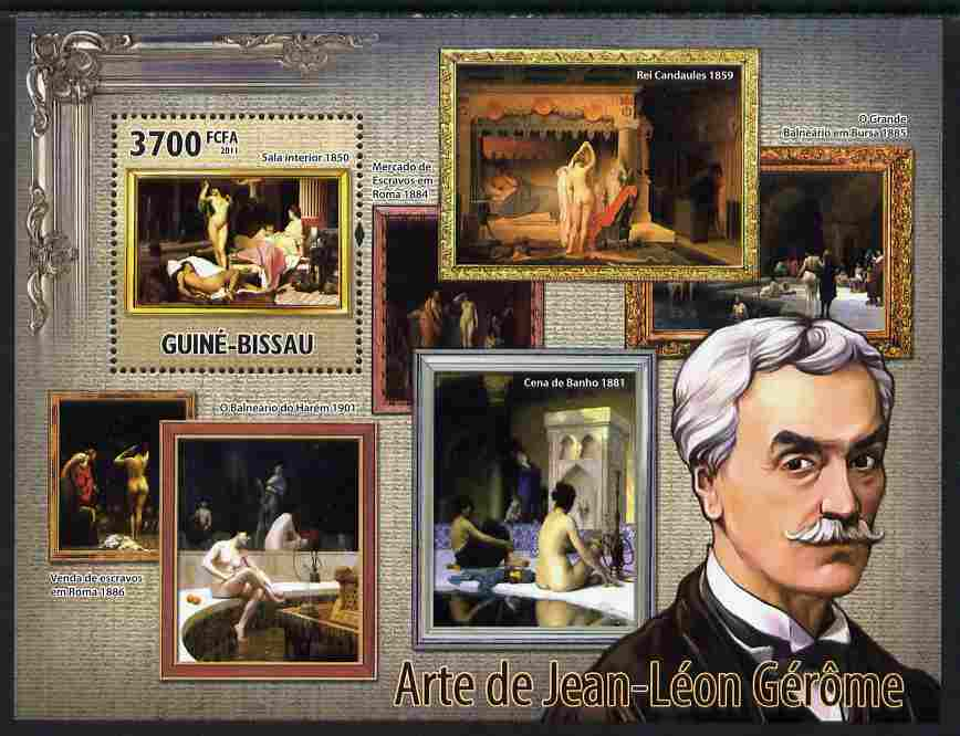 Guinea - Bissau 2011 Paintings of Jean-Leon Gerome perf s/sheet unmounted mint Michel BL 918