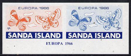 Sanda Island 1966 Europa imperf m/sheet (Butterflies) unmounted mint