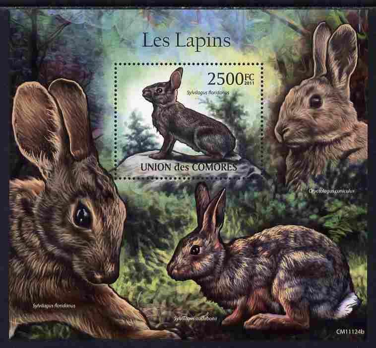 Comoro Islands 2011 Rabbits perf s/sheet unmounted mint