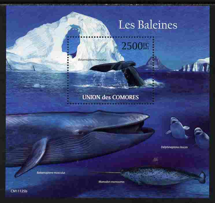 Comoro Islands 2011 Whales perf s/sheet unmounted mint
