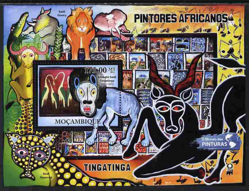 Mozambique 2011 African Paintings perf s/sheet unmounted mint