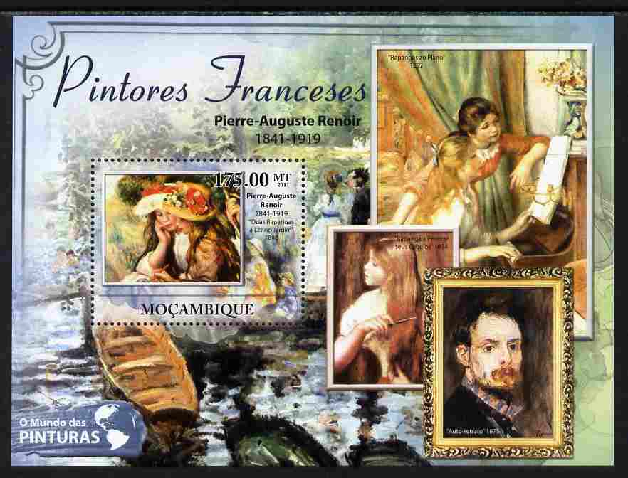 Mozambique 2011 French Paintings perf s/sheet unmounted mint