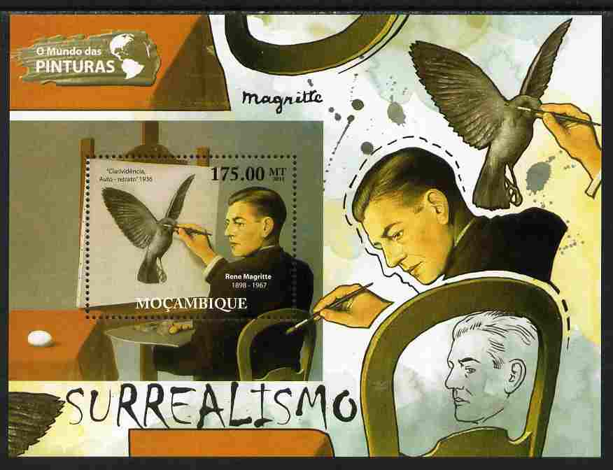 Mozambique 2011 Surrealist Art perf s/sheet unmounted mint