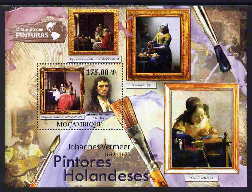 Mozambique 2011 Dutch Paintings perf s/sheet unmounted mint