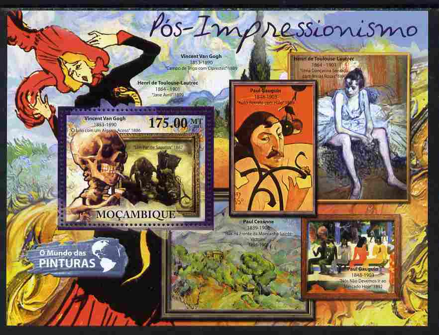 Mozambique 2011 Post Impressionism Art perf s/sheet unmounted mint