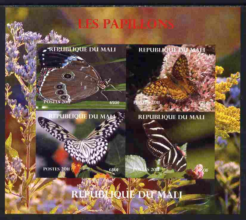 Mali 2011 Butterflies #2 imperf sheetlet containing 4 values unmounted mint. Note this item is privately produced and is offered purely on its thematic appeal, it has no postal validity