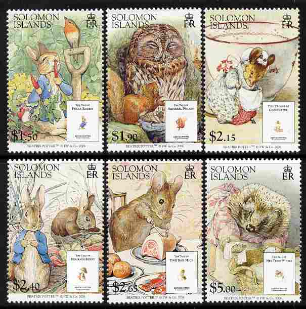 Solomon Islands 2006 The Tales of Beatrice Potter perf set of 6 unmounted mint SG 1216-21