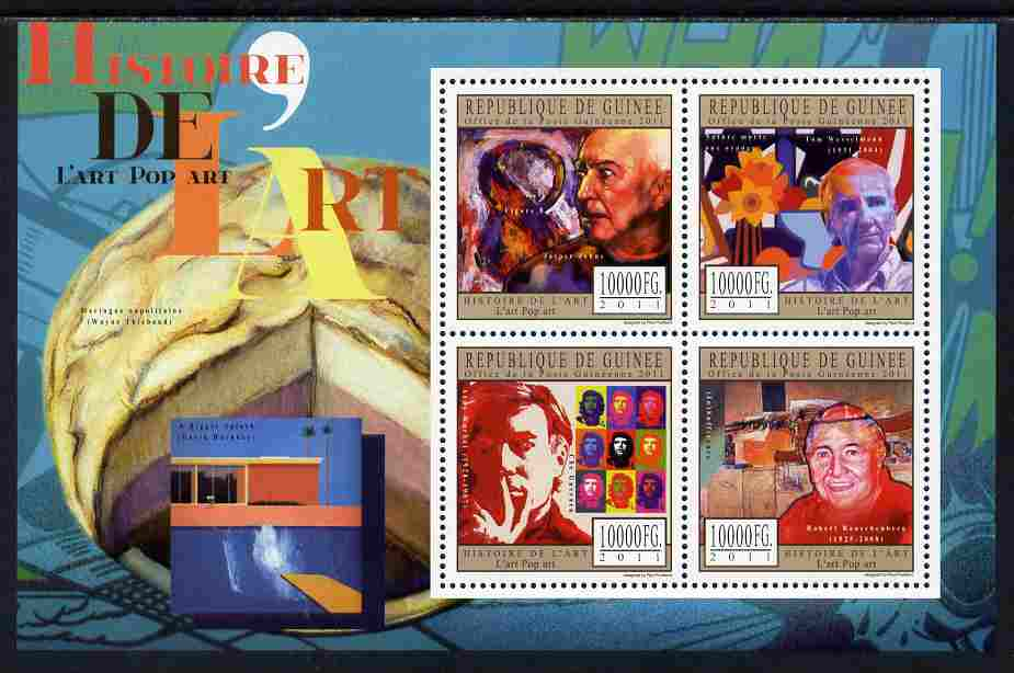 Guinea - Conakry 2011 History of Art - Pop Art perf sheetlet containing 4 values unmounted mint