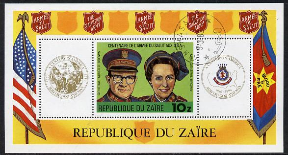 Zaire 1980 Salvation Army m/sheet cto used (Mi BL 34)