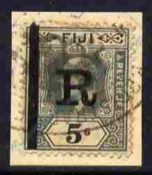 Fiji KE7 5s opt'd 'R' for revenue use, on piece appropriately used