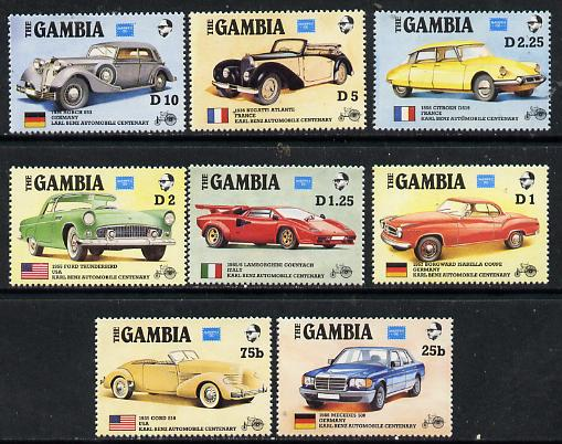 Gambia 1987 Ameripex (Cars) perf set of 8 unmounted mint, SG 650-57