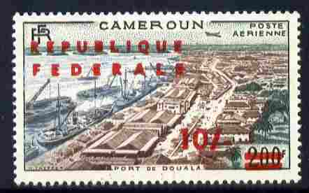 Cameroun 1961 10s on 200f Freighters & Douala Port unmounted mint, SG 296a