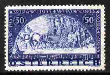 Austria 1933 International Philatelic Exhibition 50g (+50g) ultramarine unmounted mint SG 703