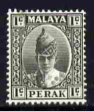 Malaya - Perak 1938-41 Sultan 1c black mounted mint SG103