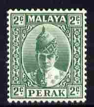 Malaya - Perak 1938-41 Sultan 2c green mounted mint SG104
