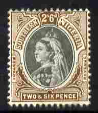 Southern Nigeria 1901-02 QV 2s6d black & brown mounted mint SG 7