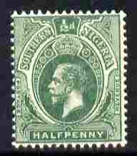 Southern Nigeria 1912 KG5 MCA 1/2d green mounted mint SG 45