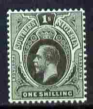 Southern Nigeria 1912 KG5 MCA 1s black on green mounted mint SG 52