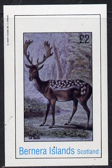 Bernera 1982 Animals (Deer) imperf deluxe sheet (�2 value) unmounted mint