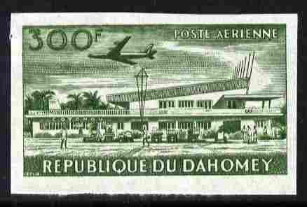 Dahomey 1963 Air 300f (Cotonou Airport) unmounted mint imperf colour trial proof (several different combinations available but price is for ONE) as SG 196