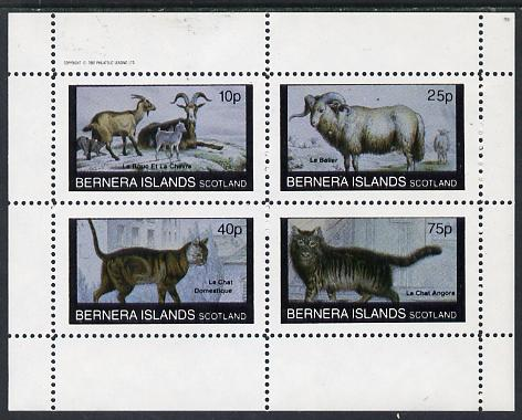 Bernera 1982 Animals (Goats, Ram & Cats) perf  set of 4 values (10p to 75p) unmounted mint