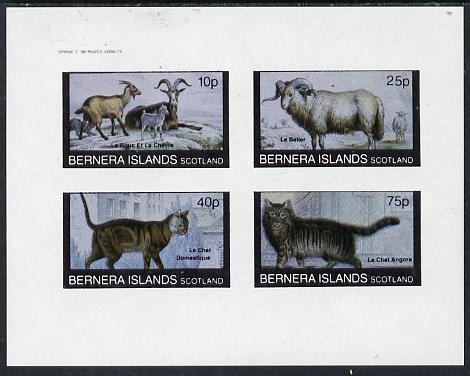 Bernera 1982 Animals (Goats, Ram & Cats) imperf  set of 4 values (10p to 75p) unmounted mint