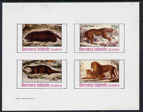 Bernera 1982 Animals (Tiger, Otter etc) imperf  set of 4 values (10p to 75p) unmounted mint