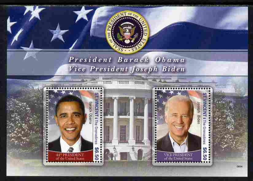 St Vincent 2009 Inauguration of Pres Barack Obama m/sheet unmounted mint, SG MS5773