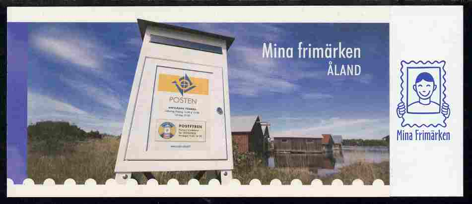 Booklet - Aland Islands 2006 My Stamp 5.60 Euro self-adhesive booklet complete and fine SG SB17