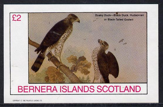 Bernera 1982 Birds #45 (Falcon) imperf deluxe sheet (�2 value) unmounted mint
