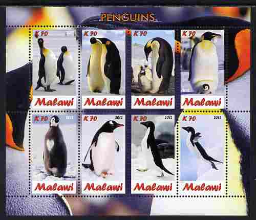 Malawi 2012 Penguins perf sheetlet containing 8 values unmounted mint