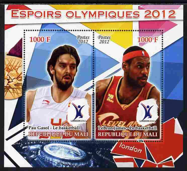 Mali 2012 Olympic Hopefuls #5 perf sheetlet containing 2 values unmounted mint