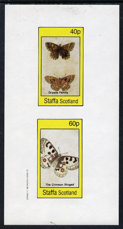 Staffa 1982 Butterflies (Dryads Family & Crimson Ringed) imperf  set of 2 values (40p & 60p) unmounted mint