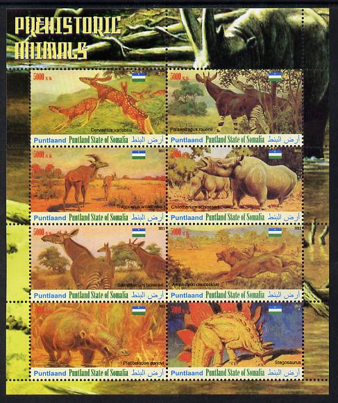 Maakhir State of Somalia 2011 Pre-historic Animals #2 perf sheetlet containing 8 values unmounted mint