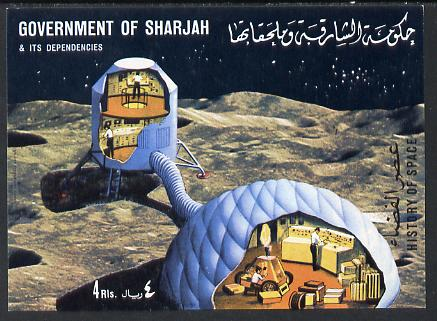 Sharjah 1970 History of Space #3 imperf m/sheet unmounted mint (Mi BL 69)
