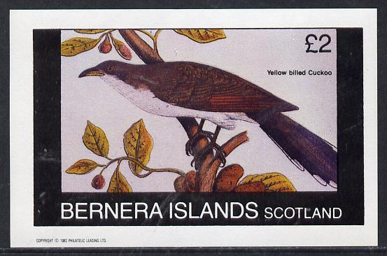 Bernera 1982 Birds #21 (Cuckoo) imperf deluxe sheet (�2 value) unmounted mint