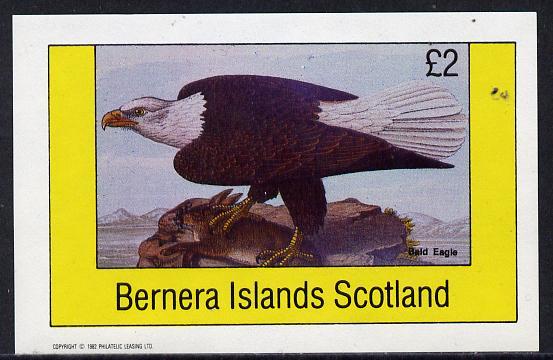 Bernera 1982 Bald Eagle imperf deluxe sheet (�2 value) unmounted mint